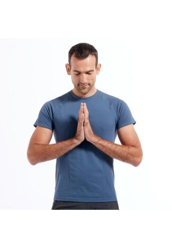 Decathlon T-Shirt Yoga Lengan Pendek /Abu-abu - 8595499 F7915AA5F8FD40GS_1
