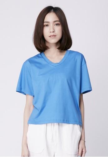 esprit台灣outlet純棉V領上衣, 服飾, T恤