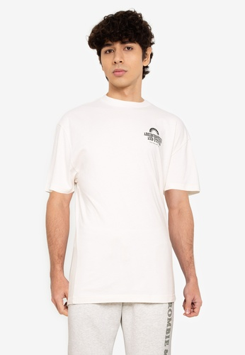 Abercrombie & Fitch white Trend Print T-Shirt C8B17AAF281F9BGS_1