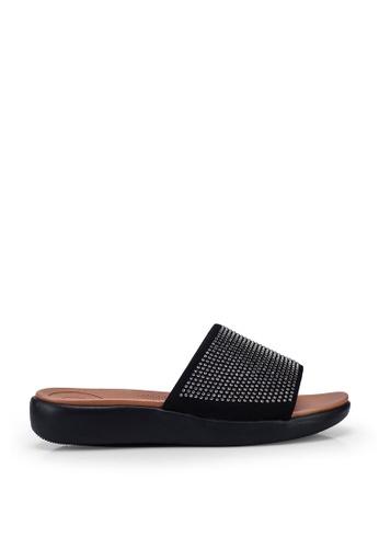 Noveni black Metal Detail Sandals BFCABSH408D417GS_1