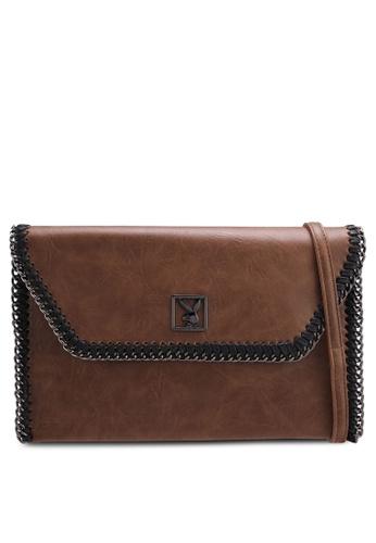 Playboy brown Playboy Clutch/Sling Bag FE366ACB26A1A2GS_1