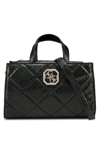 Guess black Dilla Society Satchel Bag 9CF86AC63E4FB3GS_1