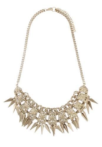 金飾雕花尖錐項鍊, 飾品配件, 飾品配zalora 心得 ptt件