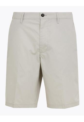 MARKS & SPENCER beige M&S Super Lightweight Chino Shorts 0328CAAFC6C0C5GS_1