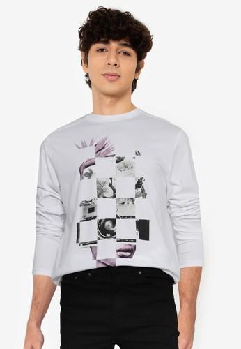 Springfield white Urban Long Sleeve T-Shirt 93892AA08283B2GS_1