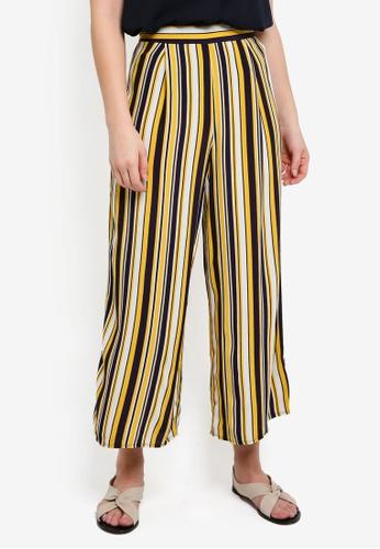 WAREHOUSE yellow Stripe Culottes 1F638AA6B4A55CGS_1