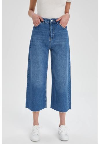 DeFacto blue High Waist Culotte Jeans 68E92AA6DCBF14GS_1