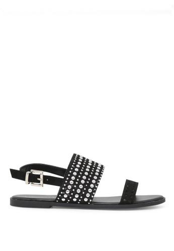London Rag black Florence Ankle Strap Flat Sandals F8981SHB1E1E74GS_1