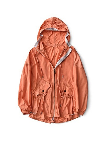 Twenty Eight Shoes orange VANSA Mid-Length Style Wind Jacket VCW-T50 60EBBAA656EB7AGS_1