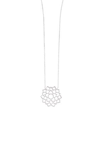 Orelia London silver SS Large Chakra Long Pendant Necklace OR747AC0SC3NMY_1
