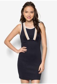 Colour Block Bodycon Dress
