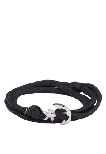 Thread Etiquette black Black Anchor Bracelet 5E477ACD1F3097GS_1