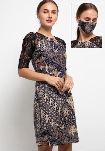 Rianty Batik black Dress Jesra 84AEFAAE1EF6B5GS_1