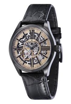 Thomas Earnshaw ARMAGH ES-8037-06 Men's Black Genuine Leather Strap Watch
