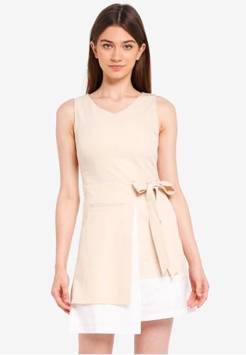 Megane beige Essential Calla Dress A7C0CAAA932B90GS_1