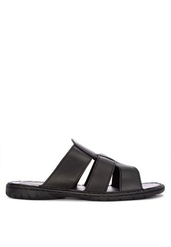 H2Ocean black Abner Slide Sandals 33B8CSH371B4E7GS_1