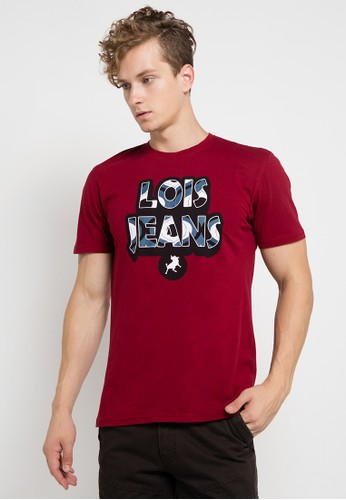 Lois Jeans red Short Sleeve T-Shirt D8358AADA5DCFAGS_1