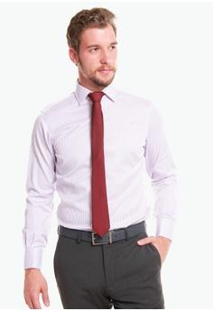 c5c47a01 T.M. LEWIN purple T.M.Lewin Non-Iron Lilac Bengal Stripe Slim Fit Shirt  44281AAB9C662EGS_1