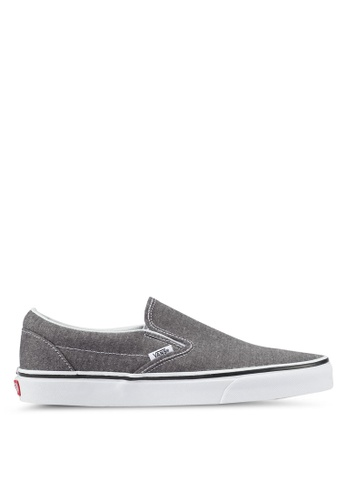 VANS grey Slip-On Herringbone VA142SH0SKV7MY_1