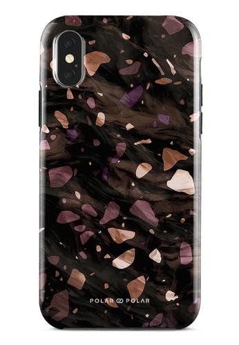 Polar Polar brown Eminence Terrazzo Gem Dual-Layer Tough Case Glossy For iPhone X / XS 7F8C6ACC175497GS_1