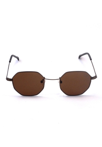2i's to eyes brown Sunglasses│Vintage Polygon│Brown Frame Brown Lens│UV400 Protection│2is NazC 57108GL9019B7FGS_1