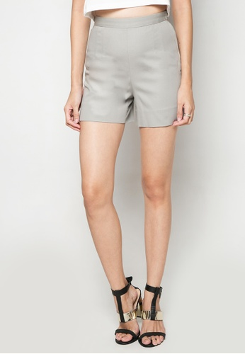 Dolce & Gabbana grey Solid-toned High-waist Shorts DA093AA38TPHPH_1