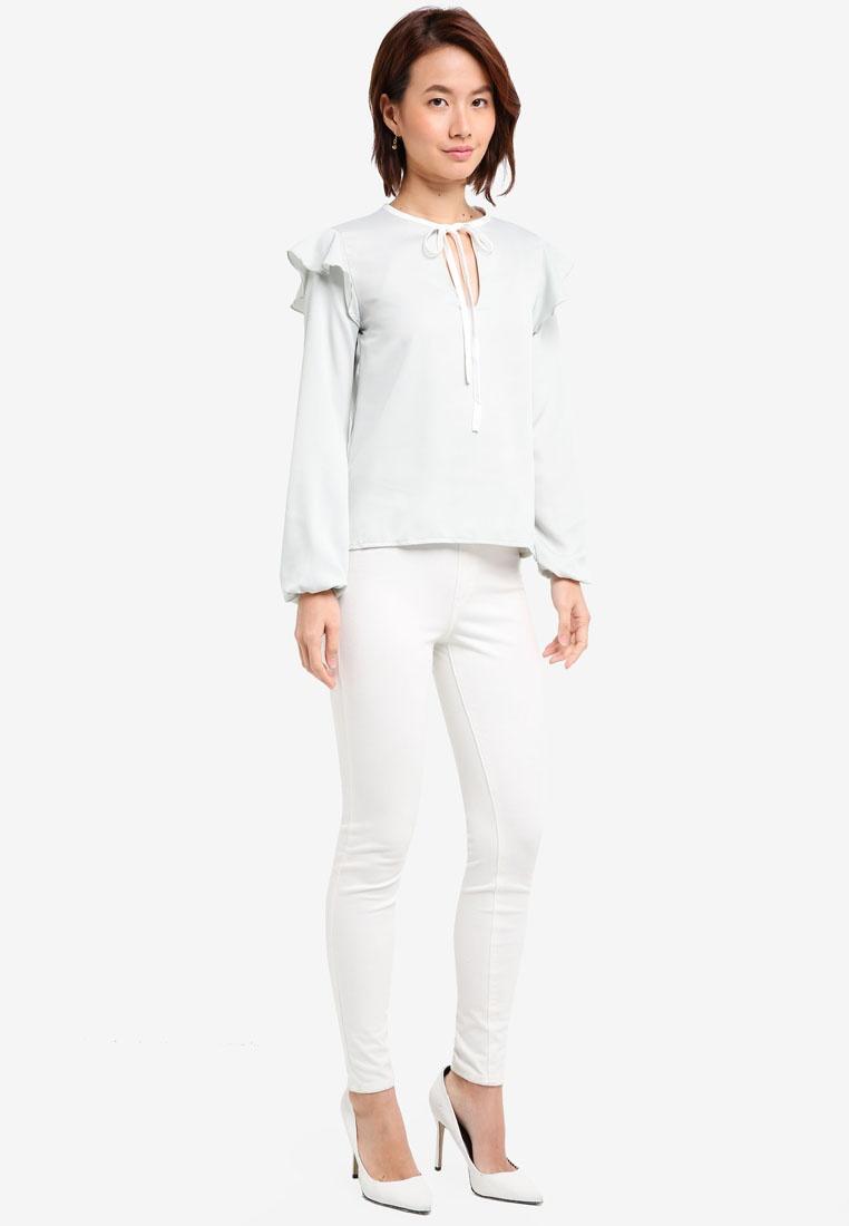 Tie Mint Loria Vesper Vesper Contrast Top 1wqHqtS