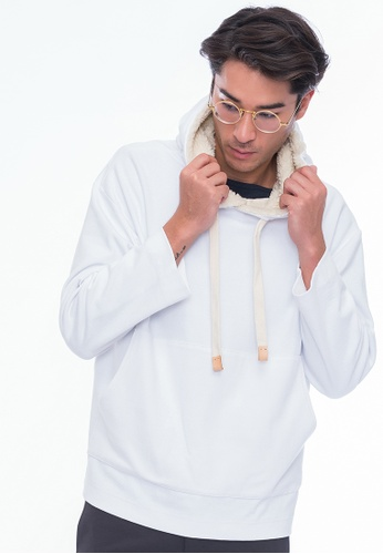 Alpha Style white Zaan Hoodie AL461AA0GMCLSG_1