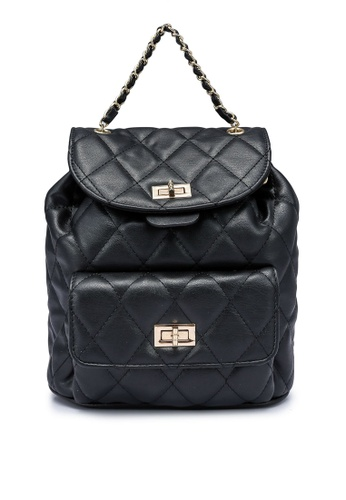 Rubi black Quilted Chain Backpack F4CB6AC1109BEFGS_1
