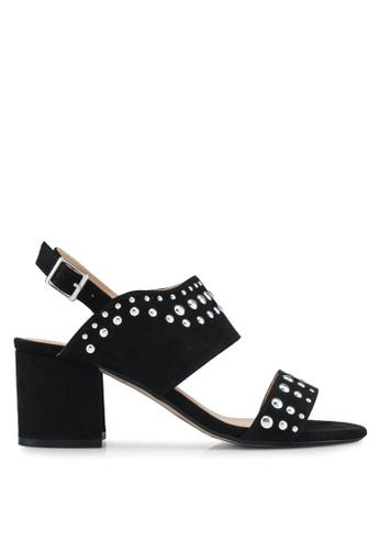 Dorothy Perkins 黑色 麂皮鑽飾涼鞋 3905ESH64FCAA0GS_1