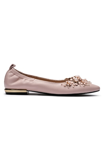 Byford pink Queensland Pointed Toe Flats 4CE21SHEF644B5GS_1