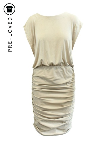 By Malene Birger beige Pre-Loved by malene birger Beige Ruffled Dress CECA3AAFD64ACDGS_1