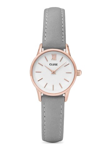 La Vedeesprit門市tte CL50009 奢華真皮帶圓錶, 錶類, 飾品配件