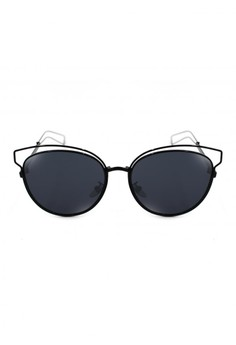 Livia Retro Wire Frame Cat Eye Summer Style Sunglasses 3854-Y