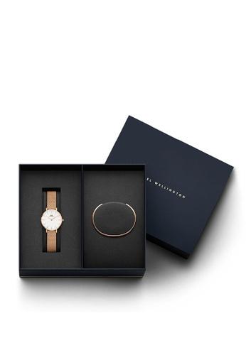 Daniel Wellington gold Combo Melrose 28mm White Watch + Cuff 245FBACBDF8A8AGS_1