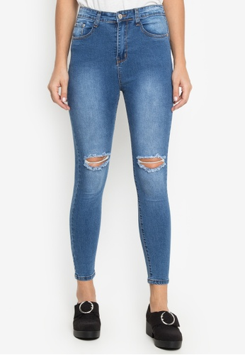 Balaynor blue High Waist Ripped Jeans 998DEAAB89409FGS_1