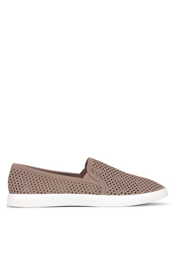 Betts pink Ellroy Perforated Slip On Sneakers 2B44ESH214B537GS_1