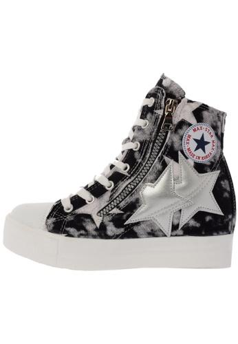 Maxstar C2 30 7 Holes Denim All White Platform High Top Sneakers US Women Size MA168SH72DLZHK_1