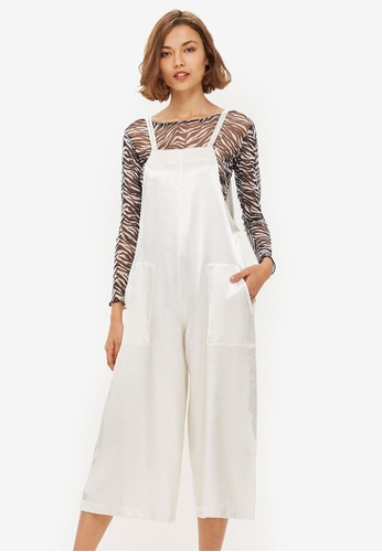ebb61a3408ed Buy TOPSHOP Satin Strappy Jumpsuit Online on ZALORA Singapore