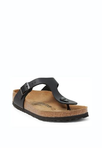 Birkenstock black Gizeh Sandals BI090SH56HNNMY_1