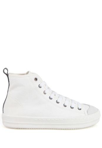 J.DAUL 白色 經典厚底真皮高筒帆布休閒鞋 JD556SH09Q99TW_1