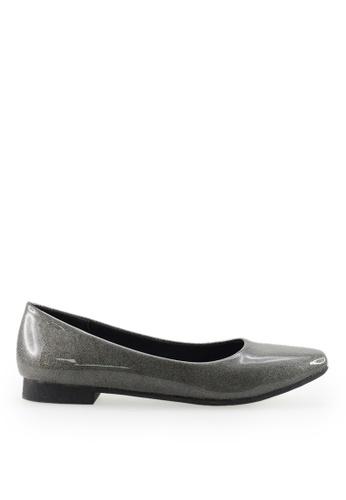 Footspot black FOOTSPOT - Square Toe Flats E5F98SH0E12AB0GS_1