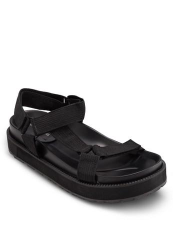 運動風紡織帶esprit hk厚底涼鞋, 女鞋, 鞋