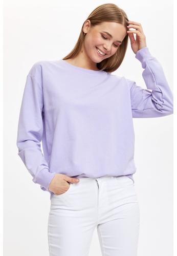 DeFacto purple Woman Knitted Sweat Shirt E10A1AA440B3BAGS_1
