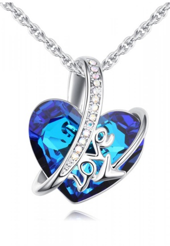 LOVENGIFTS blue Royal Blue Collection Heart With Love Letter Pendant Necklace B126EACCA4BC2AGS_1