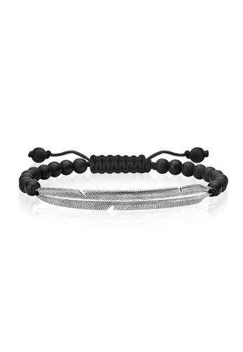 "Thomas Sabo black Bracelet ""Ethnic Feather"" TH376AC0GMS7SG_1"