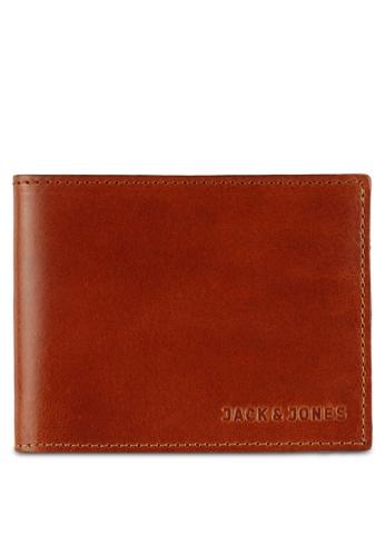 Jack & Jones brown Jac Leather Wallet JA987AC0RGKAMY_1