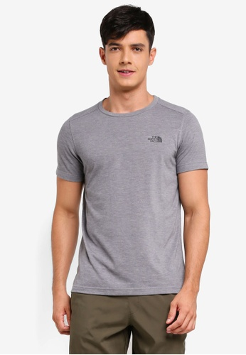 The North Face grey TNF M S/S Crag Crew - Ap TNF Medium Grey Heather 651B5AA443E493GS_1
