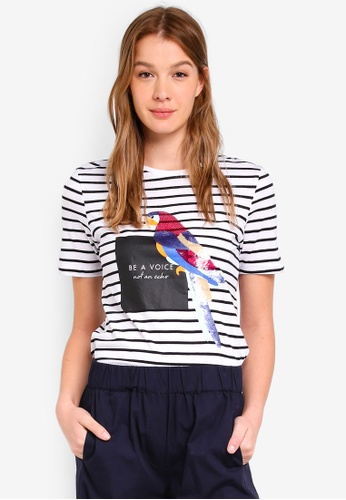 OVS black and white Sequin Tee 8B3ABAA63B3028GS_1