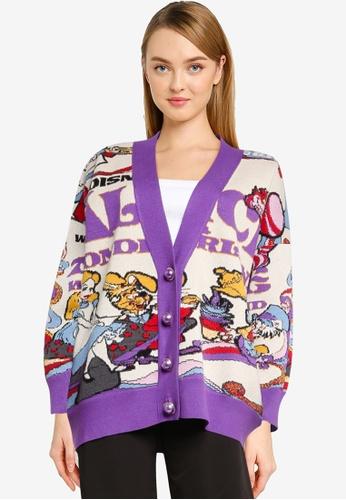 Urban Revivo multi Printed Knitted Cardigan E284DAADEBF549GS_1